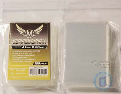 100pcs/pack MDG-7039 Mini USA card sleeves for 41x63 Board Game card protectors