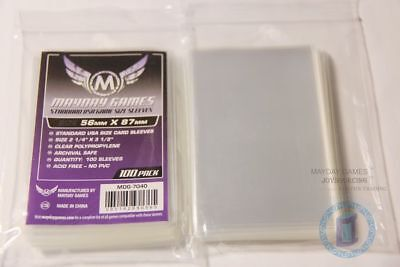 100pcs/pack MDG-7040 Standard USA card sleeves for 56x87 Board Game protectors