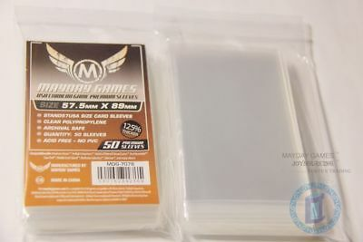 125% thicker MDG-7078 USA Chimera card sleeves for 57.5x89 Board Game protectors