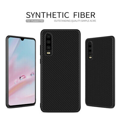 NILLKIN Synthetic Carbon Fiber Slim PC Hard Case Back Cover For Huawei P30 Pro