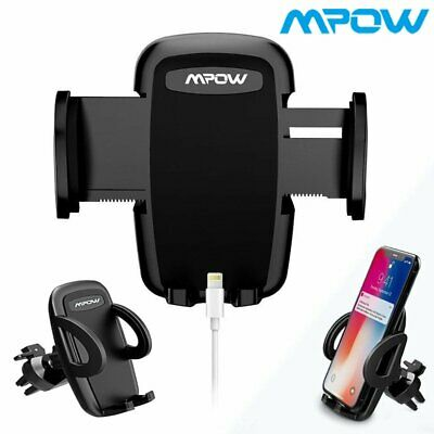 Mpow Air Vent Car Phone Holder Mount Cradle 3-level Adjustable Clamp Universal