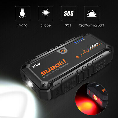 VETOMILE S400L 12000mAh LED 500A Peak Charger Car Jump Starter with Car charger