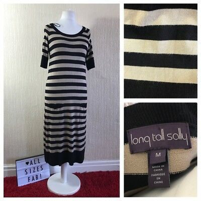 d01fdf0fd2c7 Long Tall Sally Knit Jumper Dress Size M UK 12/14 Striped Midi Stretch  Weekend