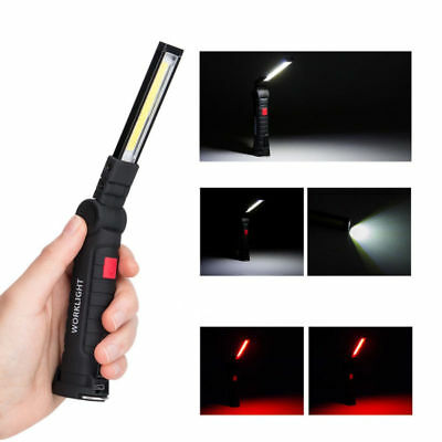 COB LED Rechargeable Magnetic Torch Inspection Lamp Cordless Work Light Flexible