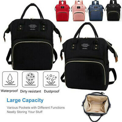 Perfect Multifunctional Baby Diaper Nappy Backpack Waterproof Mummy Changing Bag