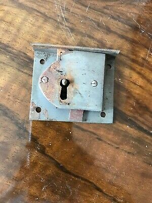 ANTIQUE BRASS FURNITURE DRAWER LOCK SECURE 2 LEVER No Key 3 Available