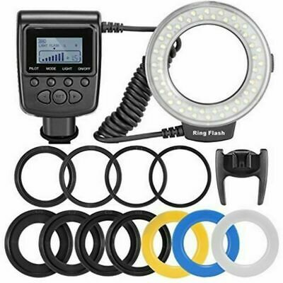 Neewer RF-550D 48 Macro LED Ring anillo Flash luz Incluye 4 Difusores