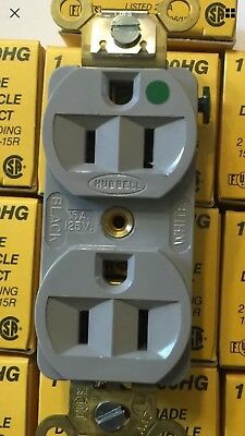 5  Brand New Hubble Hospital Grade Power  Receptacles 125 V 15 Amps Color Gray