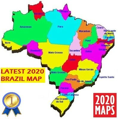 Latest Brazil Map 2019 for Garmin GPSs
