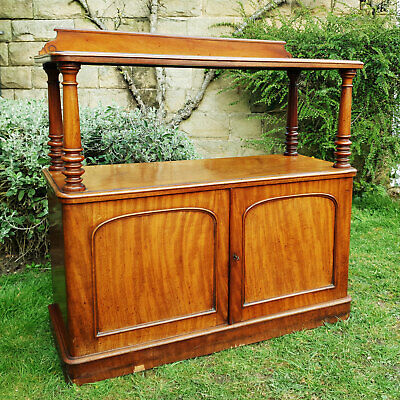 Victorian Mahogany 2-Tier Buffet C1870 (Antique Sideboard)