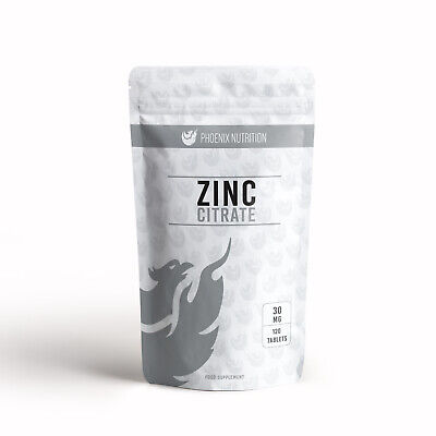 Zinc Citrate | 30mg Tablets | Triple Strength Hair, Nails & Immune Health