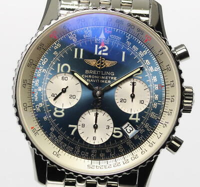 BREITLING Navitimer A23322 Chronograph Blue Dial Automatic Men's Watch_465638