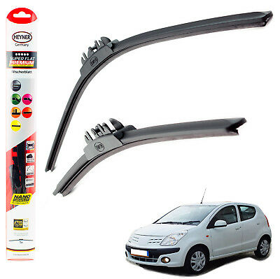 "Fits Nissan Pixo 2009-on HEYNER SUPER FLAT PREMIUM wiper blades 22""14"""