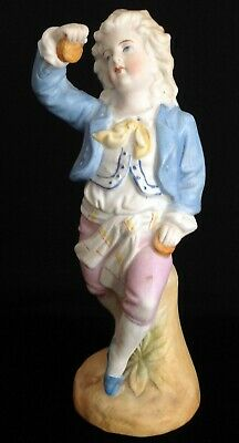 ANTIQUE c1880  GERMANY Bisque Porcelain Flamenco Dancing Boy in Blue