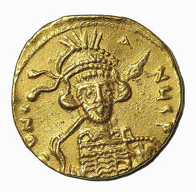 Constantine IV 668-685 AD AV Gold Solidus Ancient Byzantine Empire Coin S.1154