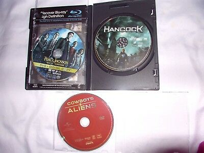 Cowboys & Aliens, Percy Jackson Sea of Monsters, Hancock DVDs'  lot of 3