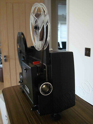 DUO 100 SUPER 8 & 8mm Dual Format CINE MOVIE FILM PROJECTOR serviced