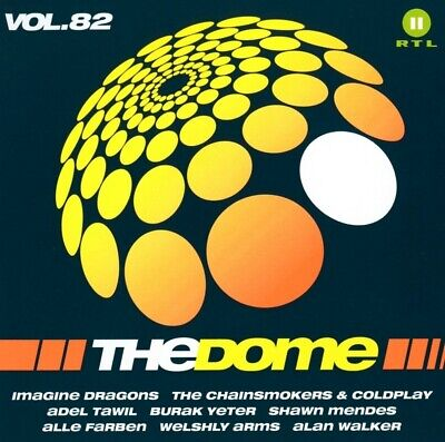 THE DOME,VOL.82,The Chainsmokers&Coldplay, Alan Walker, Gavin James, 2 CD NEW