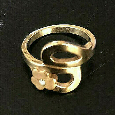 Elegant Old Vintage Yellow Gold Plated 14K Ring Very Stunning