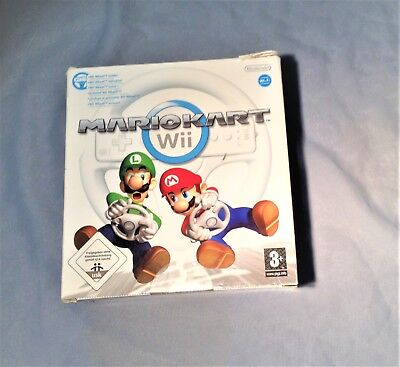 Nintendo Wii Mario Kart Big Box & Official steering Wheel – Empty packaging box