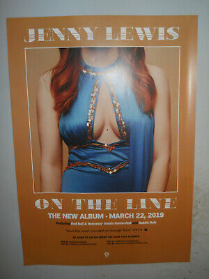"""JENNY LEWIS ON THE LINE RARE PROMO POSTER 20"""" x 28""""  APPROX"""