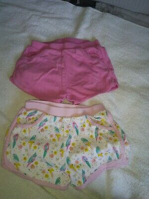 2 pairs girls shorts from matalan age 3-4 years used in good condition