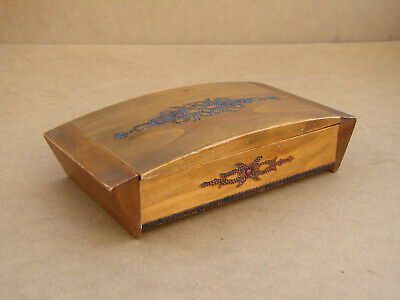 Antique Vintage Wooden Jewelry Box Case Cabinet with Silk