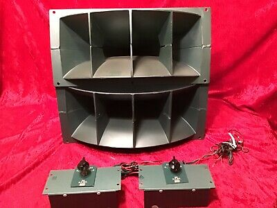 PAIR ALTEC 806A w/811 Horns And N-800-E Crossovers Package