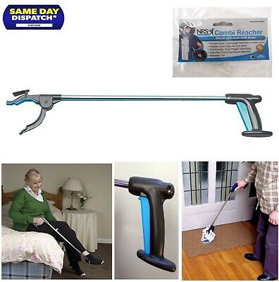 "Helping Hand Reaching Aid Grabber 81cm/32"" Use Magnetic Tip Easy Pick NRS Health"