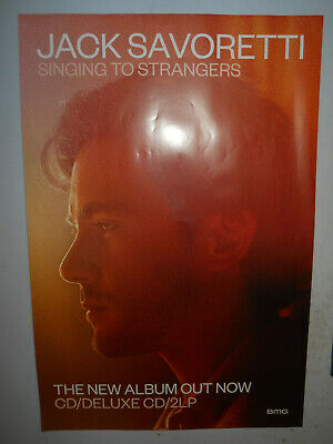 """JACK SAVORETTI SINGING TO STRANGERS 2019 PROMO POSTER 20""""x30"""" APPROX"""