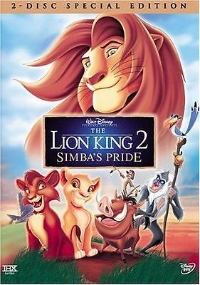 The Lion King 2: Simba's Pride - Special Edition (DVD, 2004, 2-Disc Set) RARE