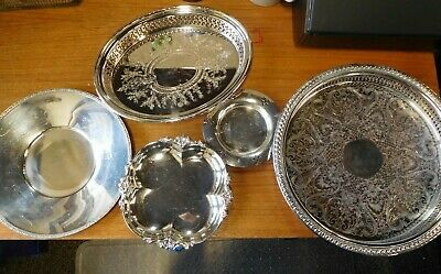 5 Silverplated Trays and Dishes