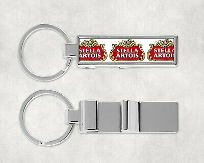 STELLA ARTOIS inspired man cave Bar Beer BOTTLE OPENER Pub Shed KEYRING Keychain