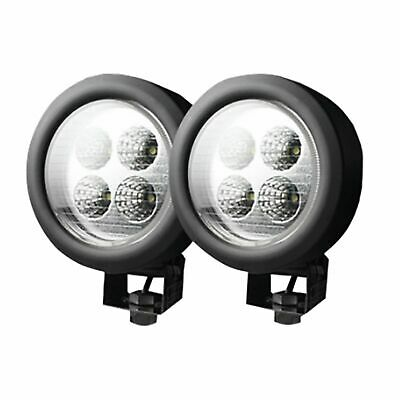 """RECON 264501CL 4"""" Round Clear-Chrome Running Lights LED"""