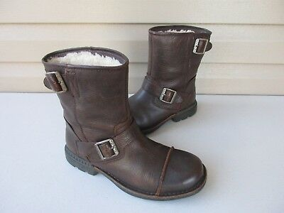 66ddd74e858 NIB UGG AUSTRALIA ROCKVILLE II BROWN DUNE, CINNAMON LEATHER RIDING ...