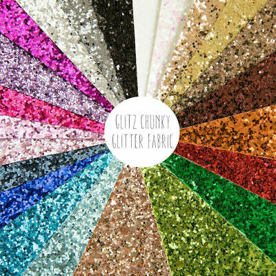 Glitz Chunky Glitter Fabric Sheet - A4 size, perfect for sparkly hair bows