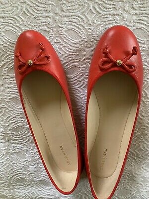 ff1ddf2cc30 COLE HAAN RED Leather Flats Shoes Women s Size 8.5 -  49.99
