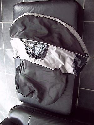 Graco Metrosport Charcoal Grey & Silver Pram Buggy Hood Extremely Good Condition