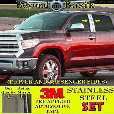 TOYOTA TUNDRA CHROME PILLAR POSTS  FITS 2007-2015 2 PIECE SET 2DR STANDARD CAB