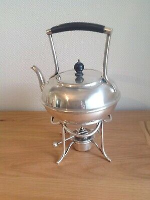 Beautiful Arts & Crafts Silver Plated Spirit Kettle