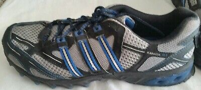 buy online a5a70 c8d70 Adidas Kanadia TR 3 Trail Running Shoes Men s Size 9 Black   Blue and Gray