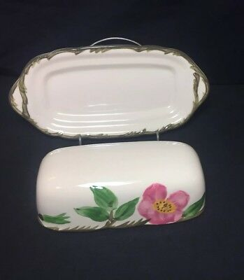 Franciscan Desert Rose Covered Butter Dish No Finial USA