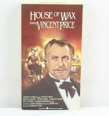House of Wax VHS 1994 Starring Vincent Price Charles Bronson Horror