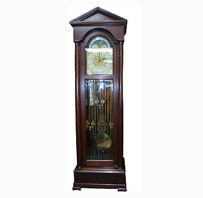 c023 Regina, Moon Dial Tall Case Grandfather Clock- Local Pickup Only