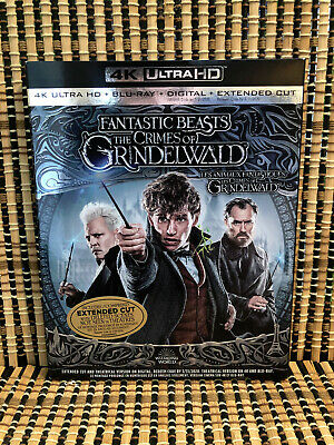 Fantastic Beasts 2: The Crimes of Grindelwald 4K (2-Disc Blu-ray,2019)+Slipcover