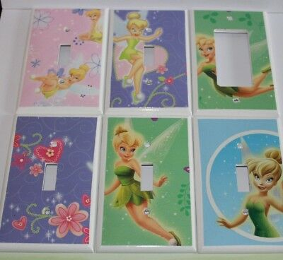 TINKERBELL - Light Switch Cover - Switchplate Electrical Outlet Kids Room Girls