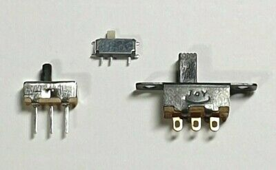 Vertical Slide Switch - 5 Pack - Choose Size - 2 Position 3 Pin - Free UK P&P