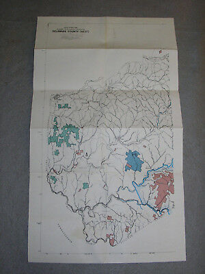 1967 Delaware County New York State Environmental Conservation Topography Maps