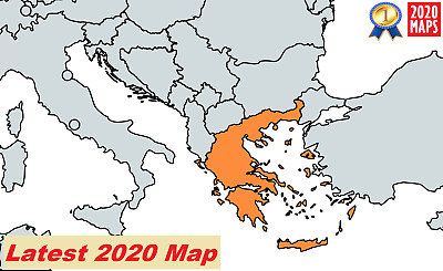 Greece Map 2019 for Garmin GPSs