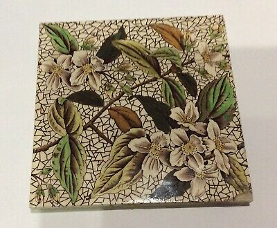Rare Aesthetic Movement Tile - Blossom - The Decorative Art Tile Co   # 5110